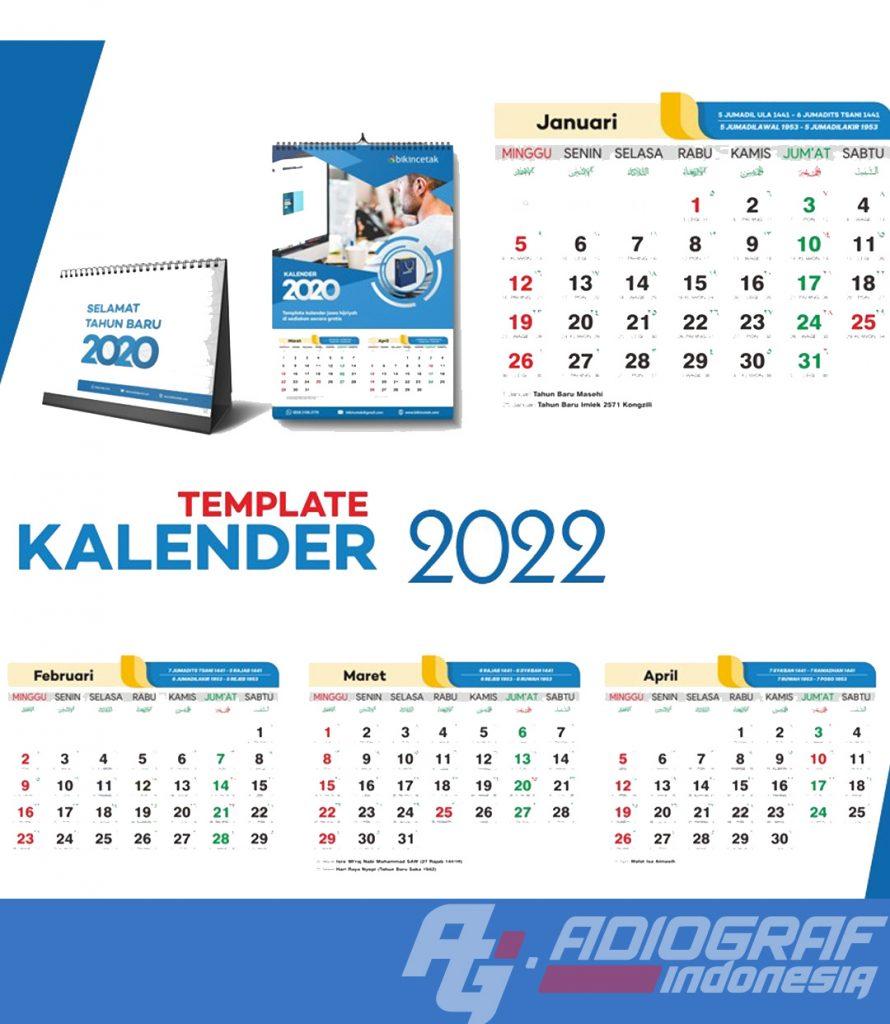 Jasa Pembuatan Kalender 2022 Murah Jakarta